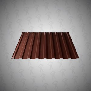 Профнастил НС-20 (0,5х1160) 2-х стор.Шоколадно-коричневый 8017