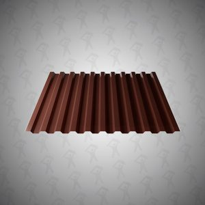 Профнастил НС-21 (0,5х1051) 2-х стор.Шоколадно-коричневый 8017
