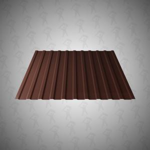 Профнастил НС-9 (0,5х1190) (кат.А) 2-ух стор. Шоколадно-коричневый 8017