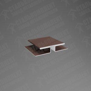 Нащельник стыковочный для сайдинга НС-80 Шоколадно-коричневый 8017
