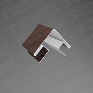 Угол наружный для сайдинга УНС-312 Шоколадно-коричневый 8017