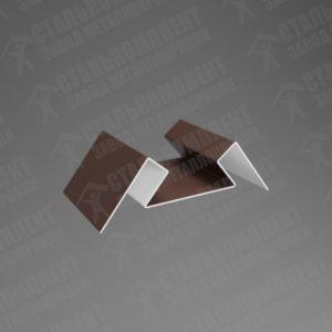 Угол внутренний для сайдинга УВС-250 Шоколадно-коричневый 8017